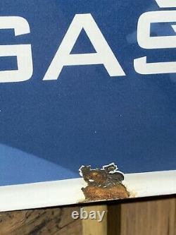 Gaz Golfe Vintage Essence États-unis Porcelain Sign Oil Station Service Power Pump 17