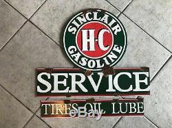 Grange Antique Style Trouver Sinclair Dino Station Service De Gaz H-c 2 Pièce Ensemble Signe