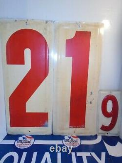 Gulf Gas Service Station Embossed Metal Price Sign Numbers 21.9 1950-60's