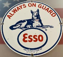 Huile Moteur Vintage Esso Gasoline Porcelain Sign Gas Station-service Pump Plate