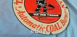 Huile Vintage De Fer Pompier Gaz Charbon Brûleur Service En Porcelaine Station De Pompage Connexion