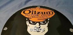 Huile Vintage Oilzum Porcelaine De Pompe À Gaz Plaque Station Service Ford Chevy Sign