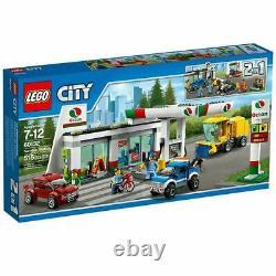 Lego City Service Station Gas Station 60132 Flambant Neuf À La Retraite, Authentique