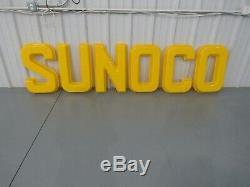 Lettres En Plastique De Signe De Station Service Vintage Sunoco Gas And Oil