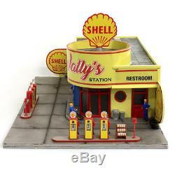 Limitée Gauge O Edition Wallys Service Station & Gas Shell Pré Construit Prelit