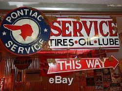 Look Vintage Style Ancien Gm Signe Pompe À Essence Pontiac Station Service Des Vendeurs
