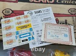 Marx Sears Service Center Station D'essence Lithographie D'étain Jouet De Voitures Diorama 30 Ans