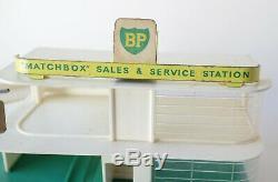 Matchbox Garage Lesney Mg1 Service Station Bp Gas Station-service Vtg
