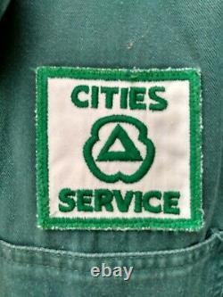Original Cities Service Station Service Station Uniforme Pardessus Patch 5-d Oil Can