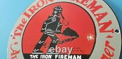 Panneau De La Station De Service De La Porcelaine De Brûleur De Charbon D'huile D'essence Pour Pompier En Fer