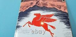 Panneau De La Station De Service De Porcelaine De Pegasus Pour L'essence Ancienne De Mobil
