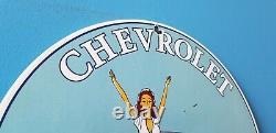 Panneau De La Station De Service De Vente Automatique De L'essence De Porcelaine De Chevrolet Vintage