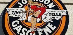 Panneau De Plaque De Pompe De La Station De Service De L'essence De Porcelaine De Johnson