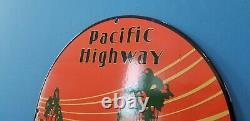 Panneau De Plaque De Pompe De La Station De Service De L'essence De Porcelaine De La Route Du Pacifique