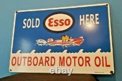 Panneau De Pompe De La Station De Service D'huile De Moteur Hors-bord Esso Esso