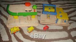 Plan Toys Station D'essence Et La Station De Réparation Lot