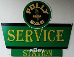 Polly Service Station Gas Plasma Cut Pancarte De Métal