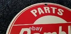 Rambler Automobile Service Station Gaz Porcelaine Concessionnaire Vintage Style Signe