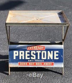 Rare Service Vintage Eveready Prestone Antigel Station Présentoir Connexion