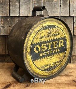 Rare Vintage Oster Bestoil Signe À Bascule Pour Bidon D'huile 5 Gallons