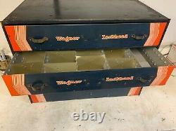 Rare Wagner Lockheed Tool Tool 3 Tiroirs Cabinet Boîte Plateau Original 1020