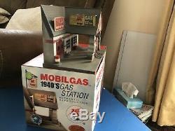 Rare1940. Gaz Mobil, Petrol Station Service Garage Diorama. 1/43 Échelle. Corgi Dinky