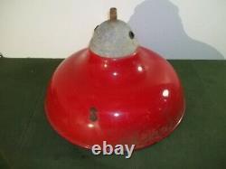 Revere Style Red Porcelain Garage Service Gas Station Light Shade 20 #1