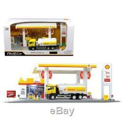 Rmz Ville 1/64, Station-service Shell, Gaz, Avec Camion-citerne Camion