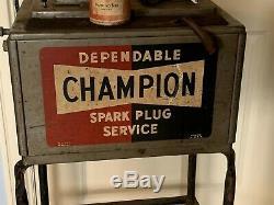 Service Champion Vintage Bougie Testeur Et Nettoyant Station Avant Connexion