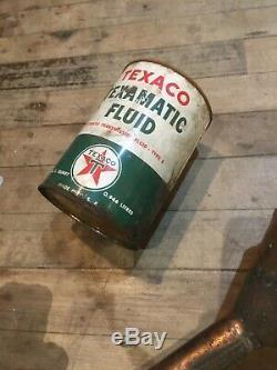 Service De Cuivre Station Oil Entonnoir Gas Vintage Texaco Sign Antique