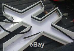 Service De Exxon Oil Station Lettre Plastique E X O Connexion N Lettre Acquerrait Out