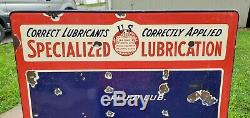 Service De Remplissage Vintage Spécialisé De Lubrification Station Grande Porcelaine Connexion