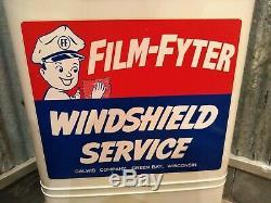 Service De Vintage Calwis Film Fyter Station Service De Pare-brise Box Signe Île