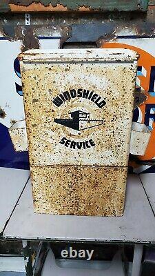 Service De Vintage Station Service Lave-glace Box Île Cabinet