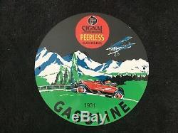 Service Essence Signal Vintage Porcelain Gas Oil Connecter La Station De Pompage Plate Rare