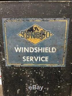 Service Signe Vintage Sunoco Station Service Pare-brise Box Île