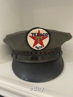 Service Texaco Vintage Oil Station Attendant Hat Uniforme Cap Tout Original