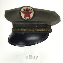 Service Texaco Vintage Oil Station Attendant Hat Uniforme Des Années 1950 Patch Cap
