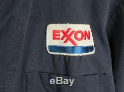Service Vintage 1950 Exxon Station Coveralls Travail Universal 46 Union Made