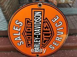 Service Vintage Harley Davidson Sales Gas Oil Station Porcelain Connexion
