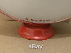 Service Vintage Pompe Esso Gas Globe Lumière Lentille En Verre Garage Station Tiger