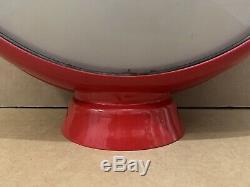 Service Vintage Pompe Esso Gas Globe Lumière Lentille En Verre Garage Station Tiger 1