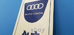 Signe Allemand De Station D'service De Station-service De Vw De Concessionnaire D'auto De Porcelaine D'audi D'audi De Cru