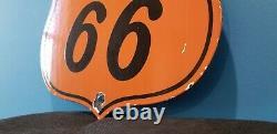 Signe D'étagère De Station D'essence Phillips 66 De Porcelaine D'essence D'huile À Moteur De Moteur