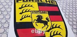 Signe De Concessionnaire Allemand De Station-service De Porsche Porcelaine De Cru Porsche Gas Auto Vw