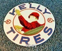 Signe De Pompe Automatique De Concessionnaire D'essence De Station D'essence De Kelly Tires De Cru Kelly Tires