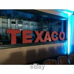 Signe De Station Service Service Vintage Texaco Pour Ventilateur Mancave Hot Rod Sbc Ford Mustang