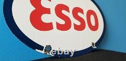 Signe En Métal De Pompe De Plaque D'annonce De Station-service De Porcelaine D'essence Vintage D'esso