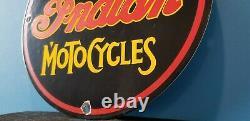 Signe Indien Vintage De Pompe De Station D'service En Porcelaine De Moto