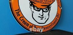 Signe Vintage D'annonce De Plaque D'annonce De Plaque D'annonce De Station D'essence De Pétrole De Porcelaine D'essence